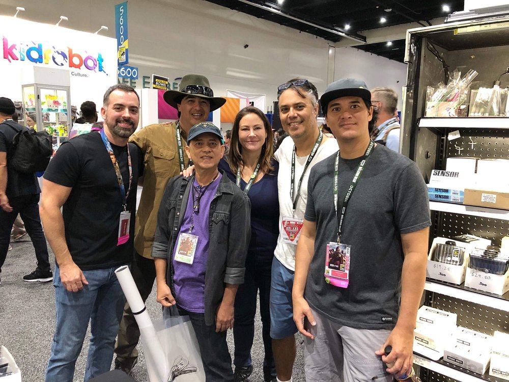 Joe Madureira, Manny Carrasco, Pio Ravago, Kristy Tipton, David Levy and Thierry Doizon