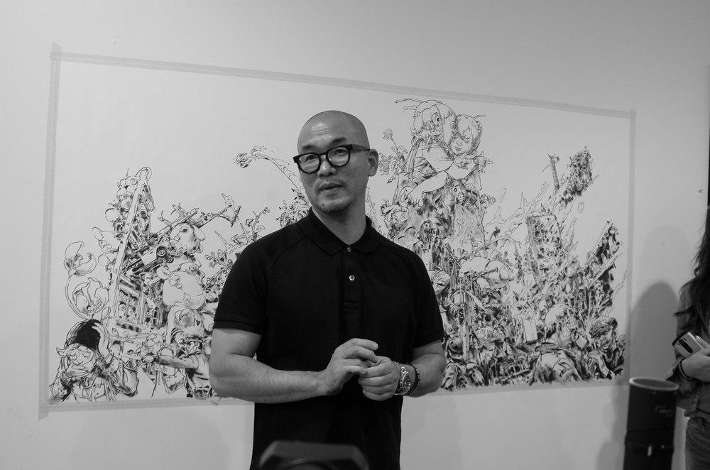 "Kim Jung Gi is an award-winning artist and the cover artist for ""In Danger: Threatened & Endangered Animals""."