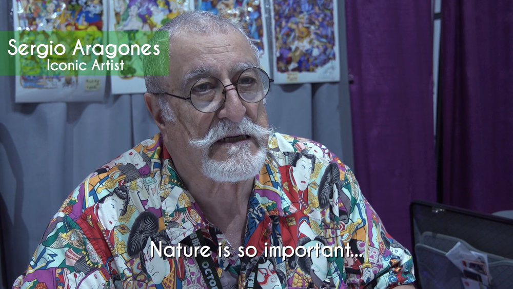 """Sergio Aragones is an award-winning artist (National Cartoonists Society's Reuben Award, Will Eisner Hall of Fame Award), and contributed the """"In Danger"""" book forward."""