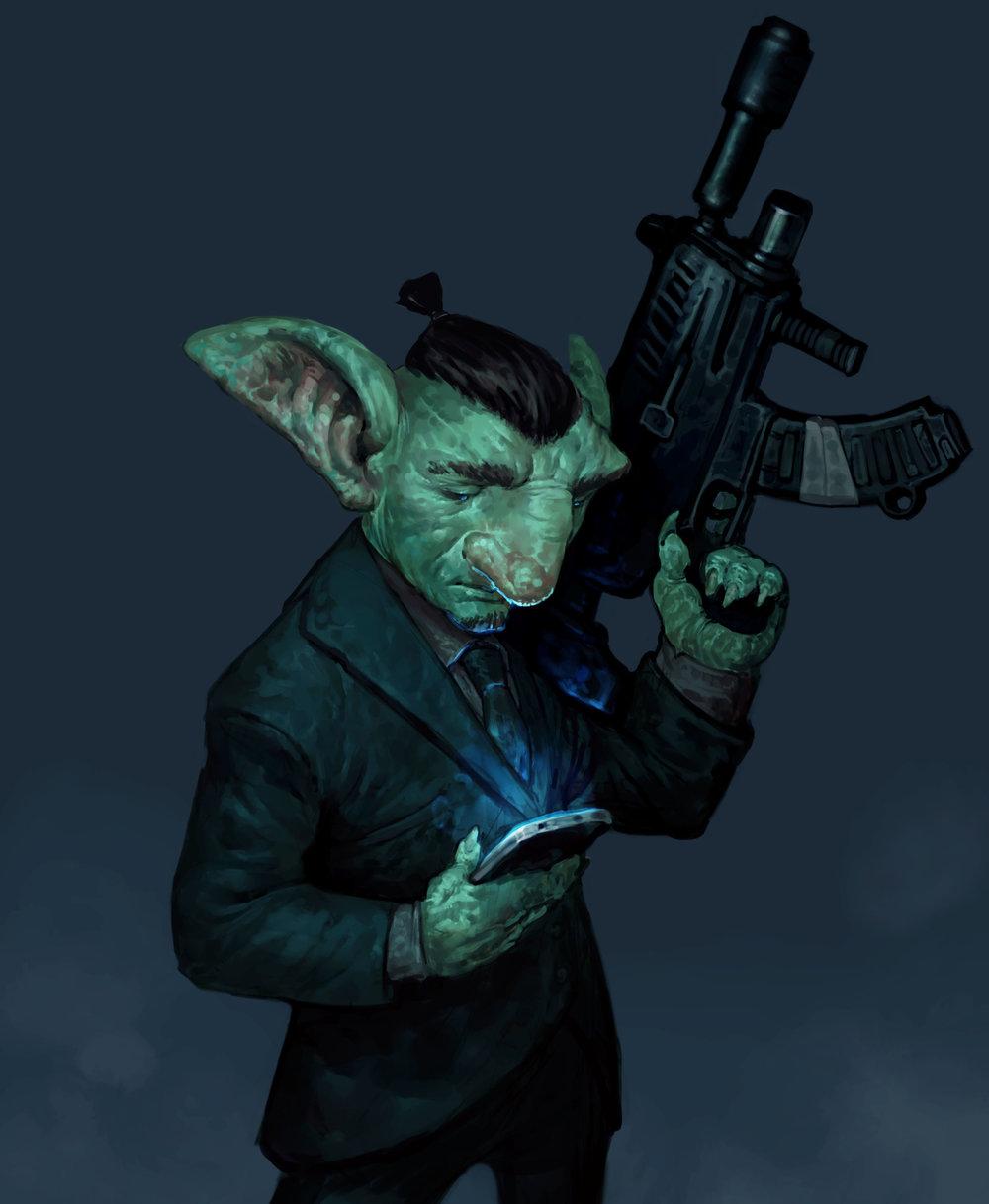 """Goblin inspired by John Wick 2"""