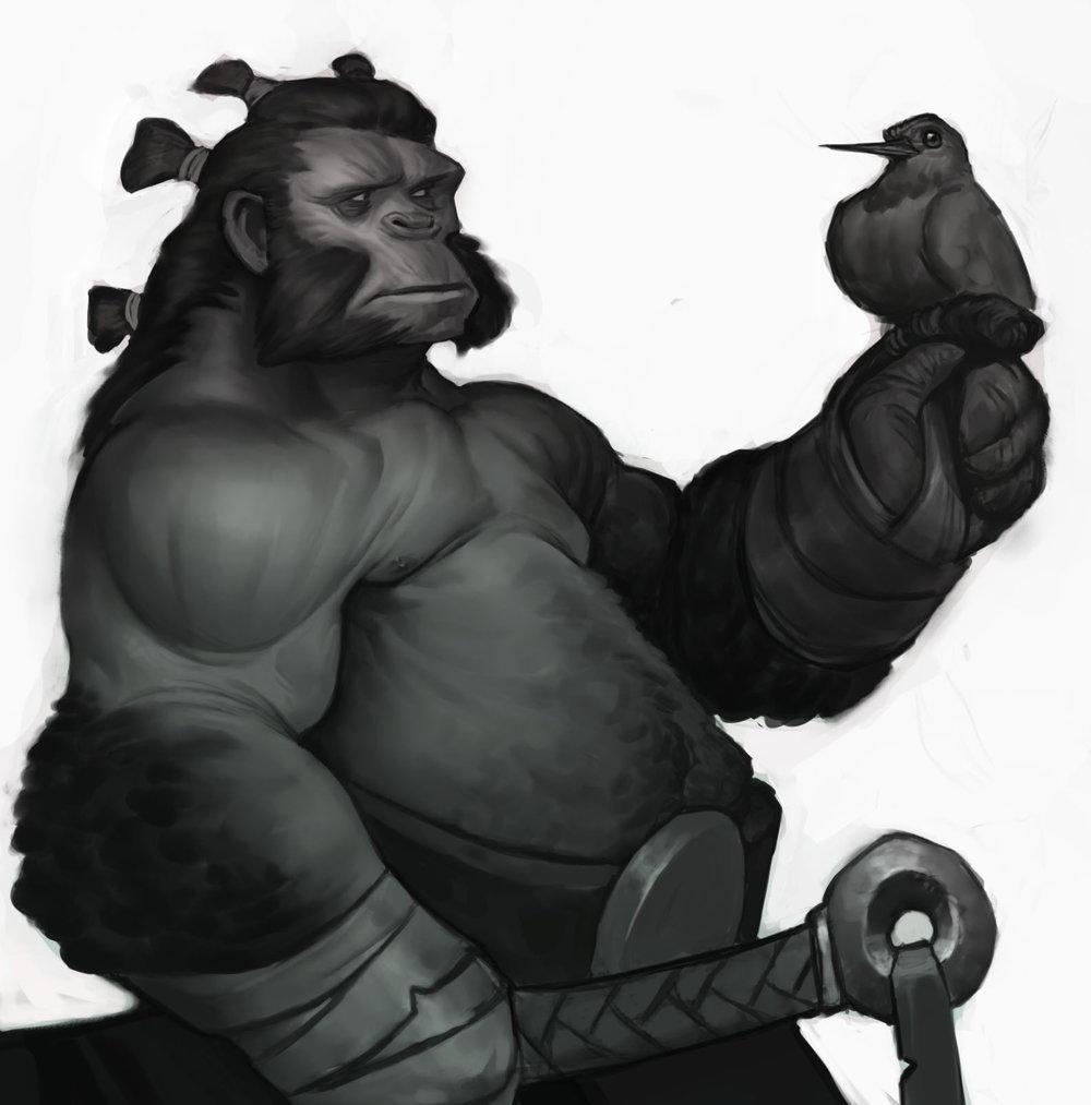 """Gorilla Sketch"""
