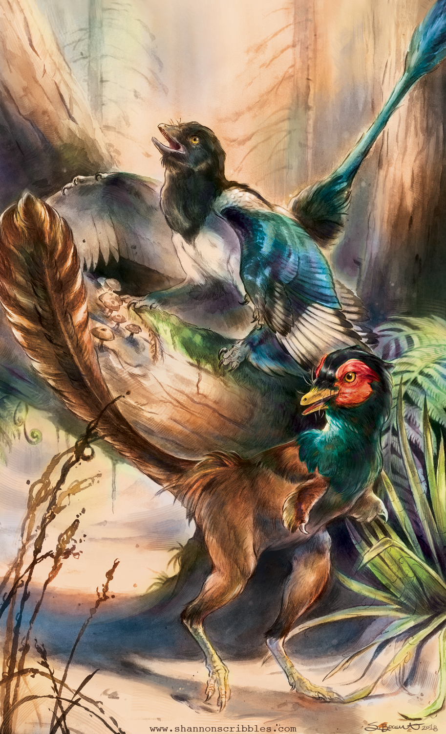 """Beasts of the Mesozoic Microraptor and Mononykus"""
