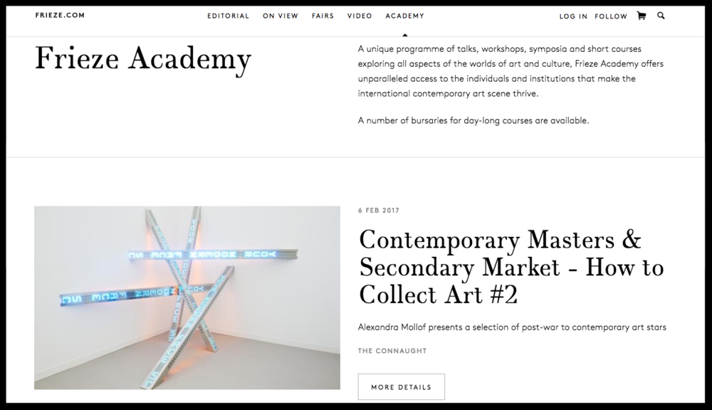 Frieze Academy online