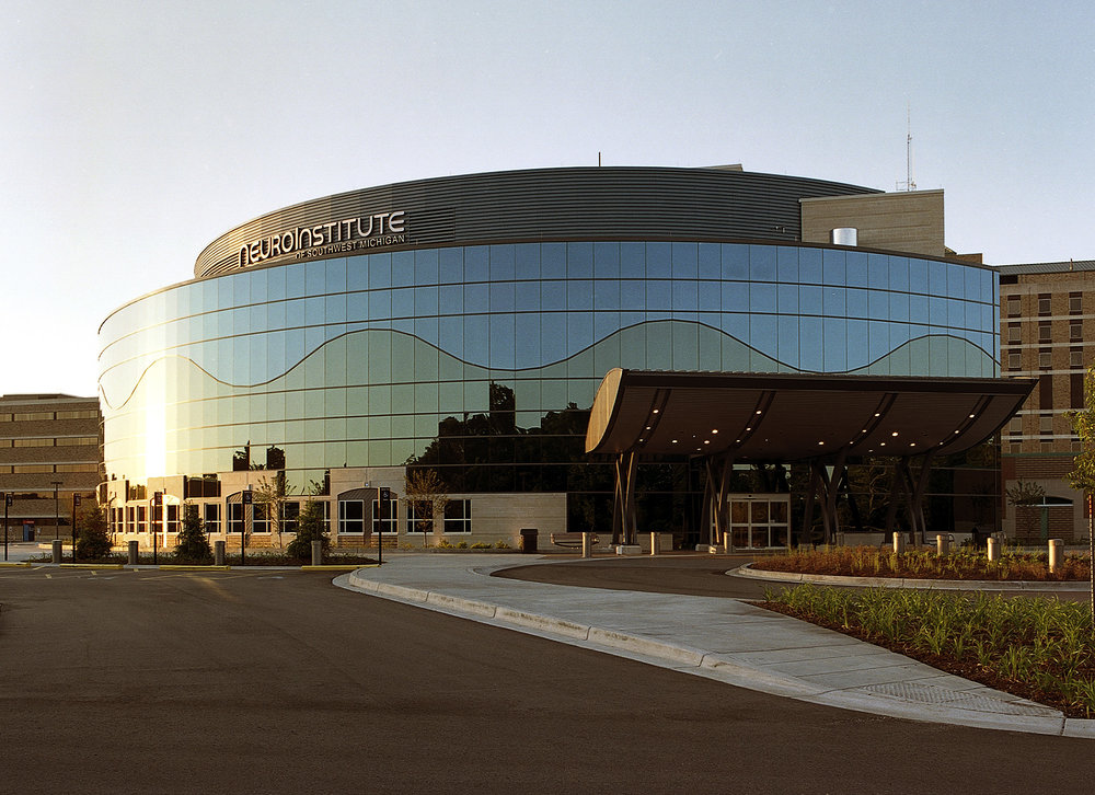 Borgess Brain & Spine Institute, opened in 2006, is one of many Borgess projects completed over the last 30 years.