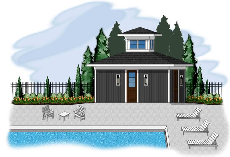 Pool house - coming soon!