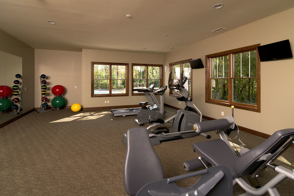 The clubhouse fitness center