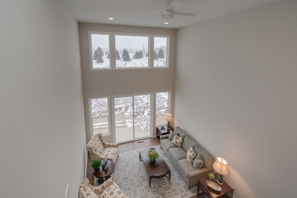 Overlooking the family room