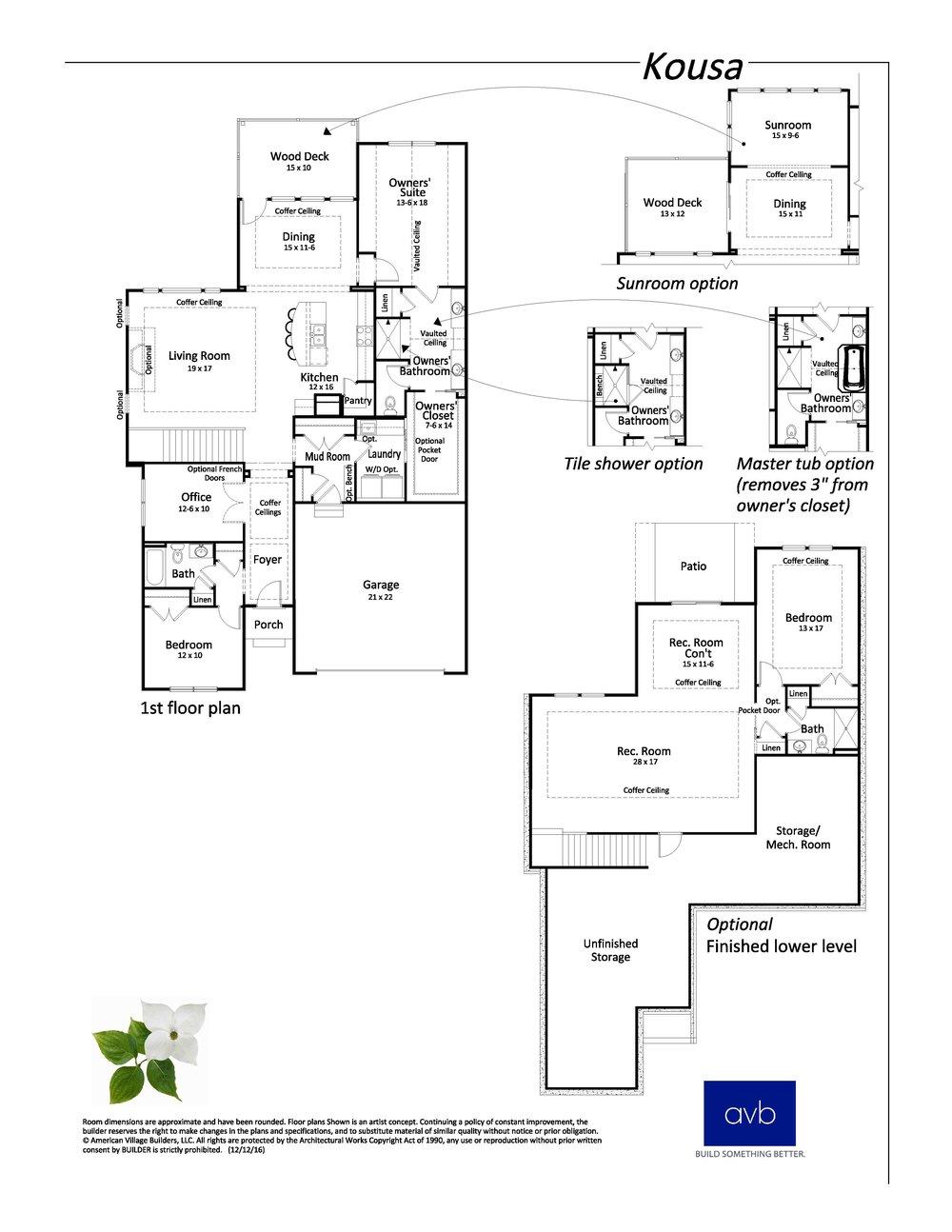 Kousa floor plan