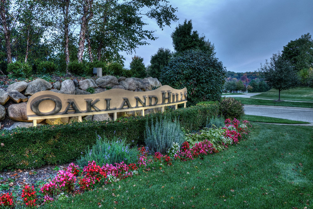 Oakland Hills community entrance