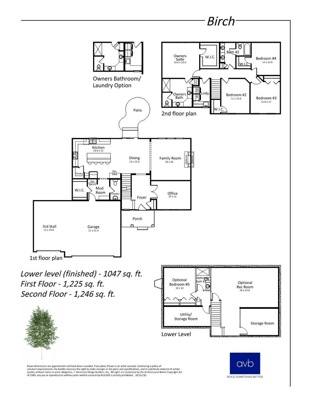 The Birch floor plan