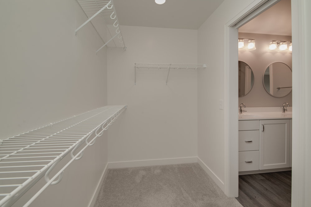 Spacious walk-in closet with organizer