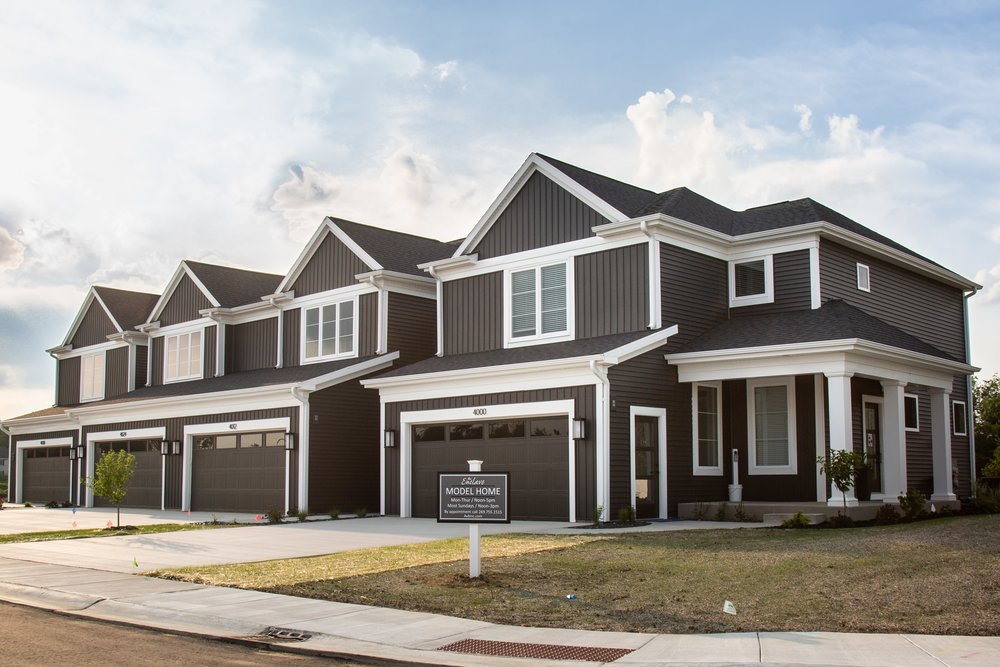 Stock photo of the townhomes