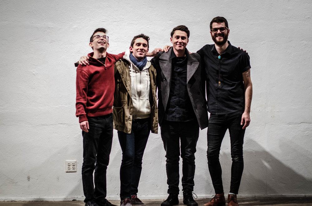 Photo: Carolyn Lederach | Carlos Pacheco-Perez , Sean M. Gill, Josh Miller, Evan Chapman