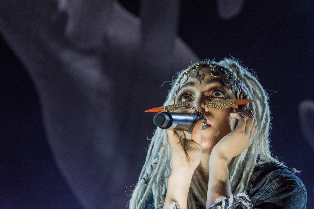 """FKA twigs puts on the most amazing show, audibly and visibly. Every movement is carefully calculated, and in union with the music."""