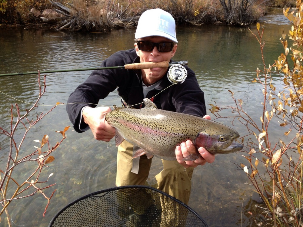 Large Colorado Rainbow Trout caught by a very happy client