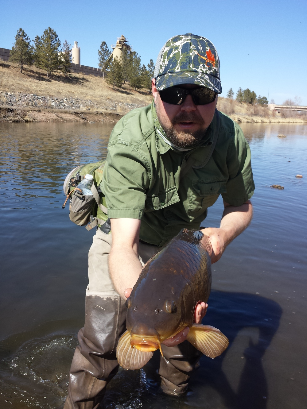 Head Guide Luke Martin with a South Platte Carp