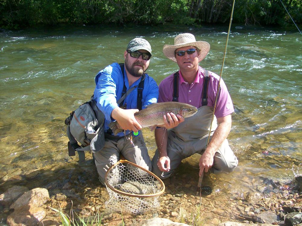 Lead guide Luke Martin with another satisfied client