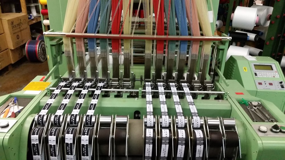 Our label's are made on this machine at Woven Labels UK, Pembrokeshire.