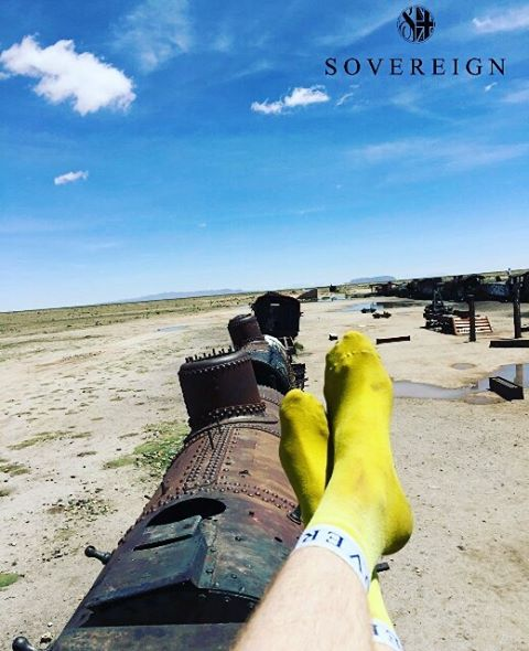 Relaxing on an abandoned train in the desert. #chill #travel #travelling #southamerica #sovereignsocks #sockitup #socks #streetwear #streetstyle #swag #fresh #fashion #mensclothing #mensunderwear #mensfashion #streetfashion #menswear #sneakers #sneakerhead #skatewear #skateboarding #skatelife #surfing #basketball #instadaily #instagood #photooftheday #like #colors #fun