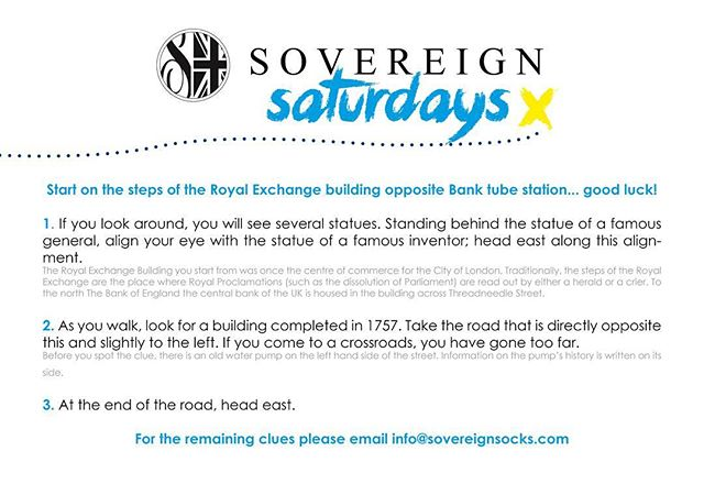 Sovereign Saturdays is on again today for a chance to win a free pair of socks in London! #london #treasurehunt #win #free #prize #sovereignsocks #sockitup #socks #streetwear #streetstyle #swag #fresh #fashion #mensclothing #mensunderwear #mensfashion #streetfashion #menswear #sneakers #skatewear #skateboarding #skatelife #surfing #basketball #instadaily #instagood #photooftheday #like #colours #fun