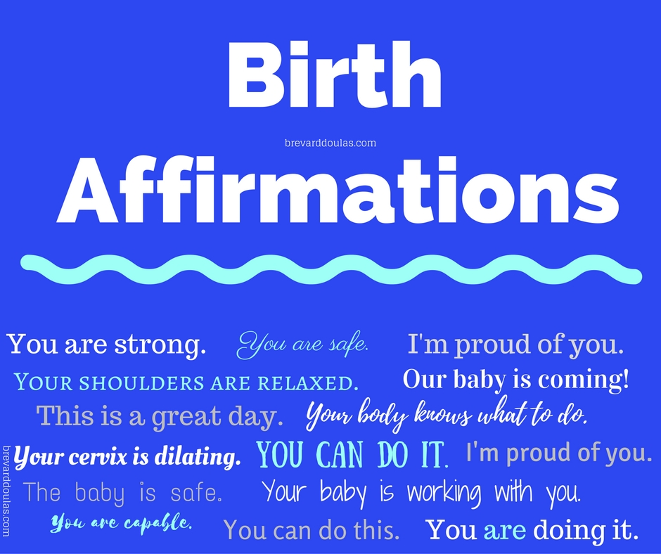 birth affirmations for labor