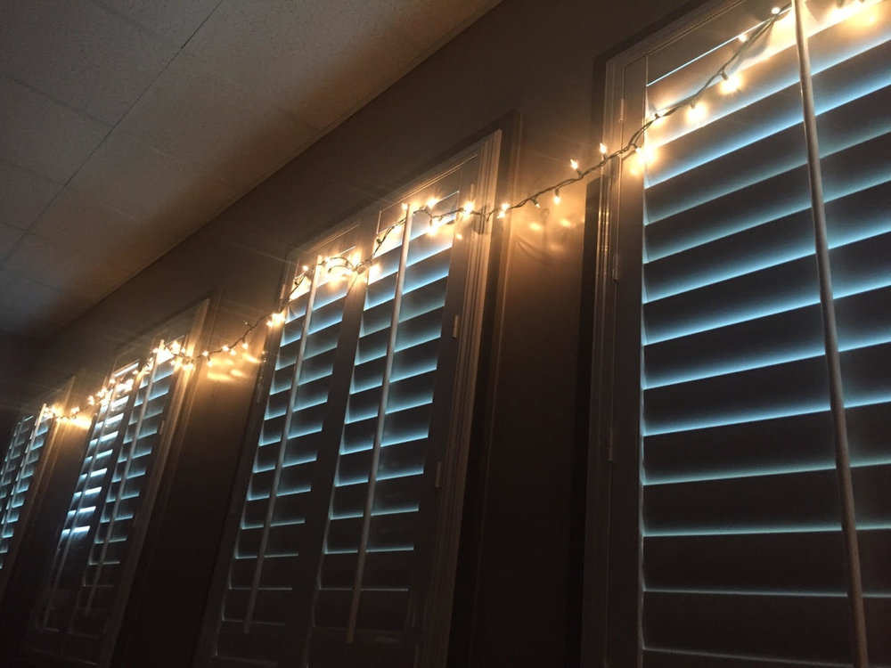 A strand of 100 mini lights can change the mood of the room in a twinkle!