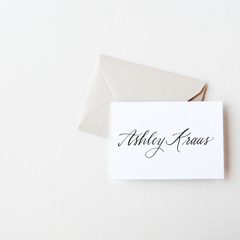 Set Of Personalized Notecards Envelopes