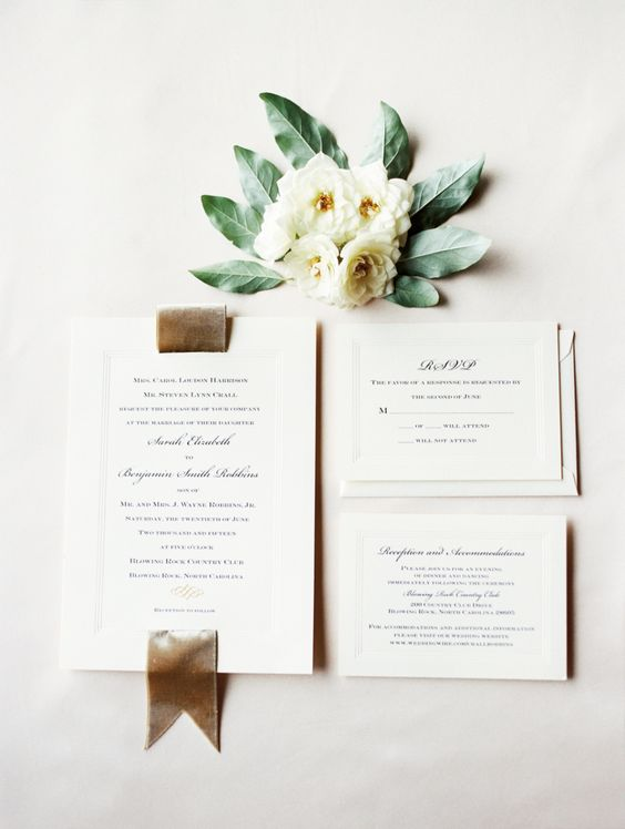 Image c/o Style Me Pretty, Marcie Meredith Photography, Invitations by Reaves Engraving