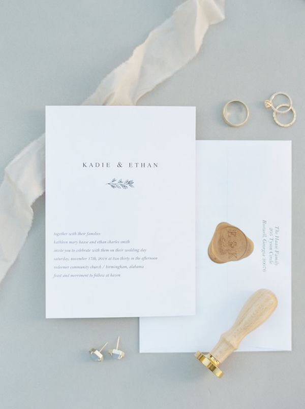 Photo by Megan Murphy Photography // Wedding of Ethan and Kadie Smith // Wax Seal by FHP