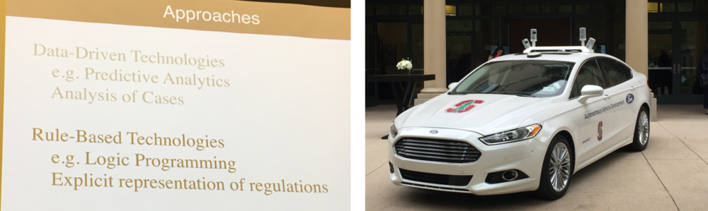Data-driven and rule-based approaches; the Stanford/Ford autonomous car.