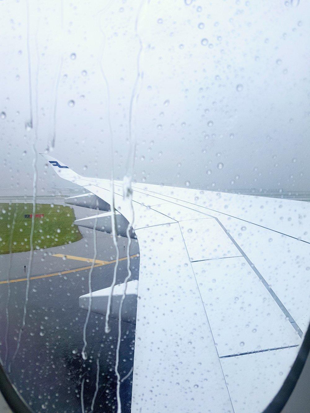 Just landed to rainy Seoul.