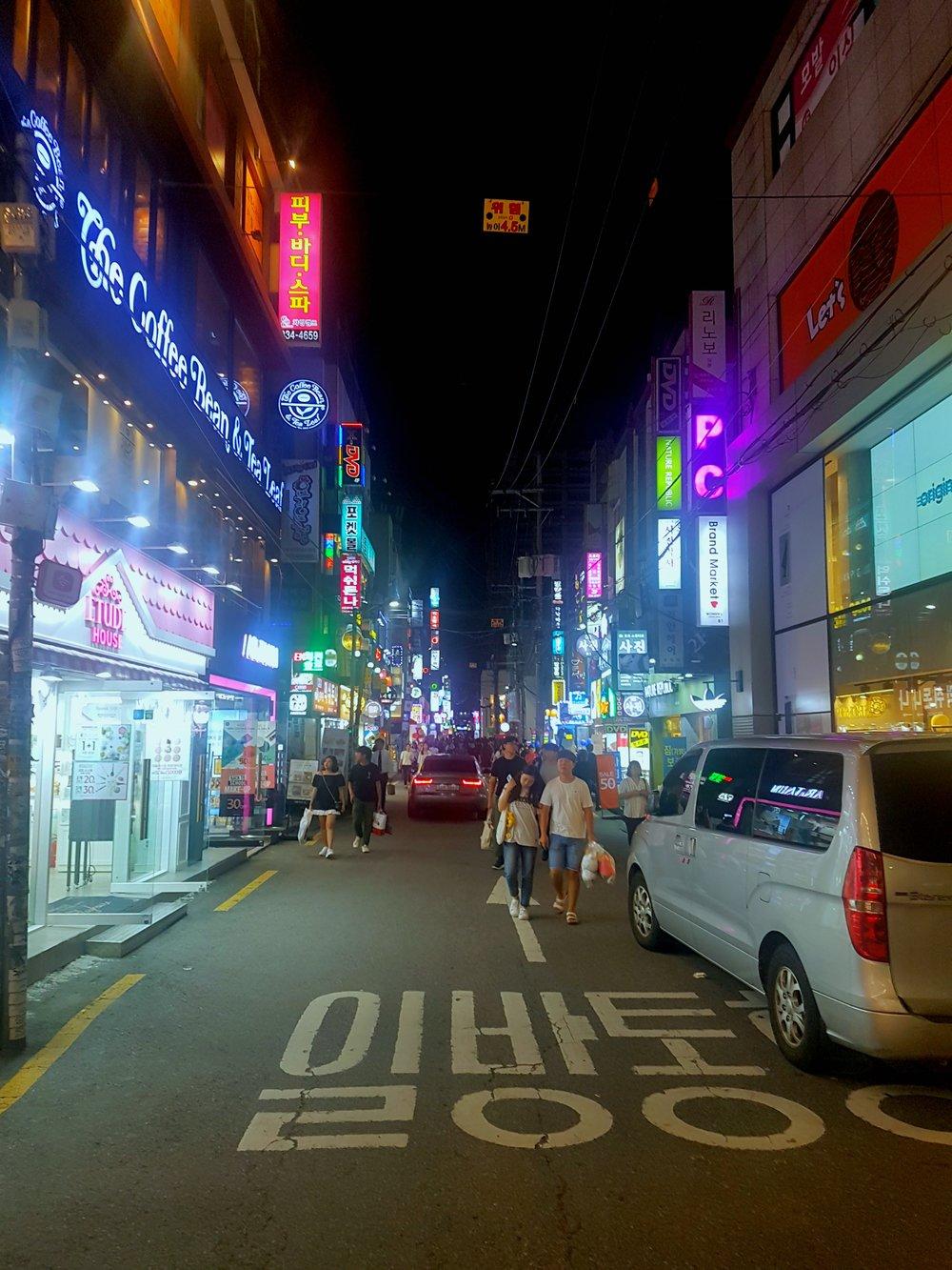 Seoul in the night.