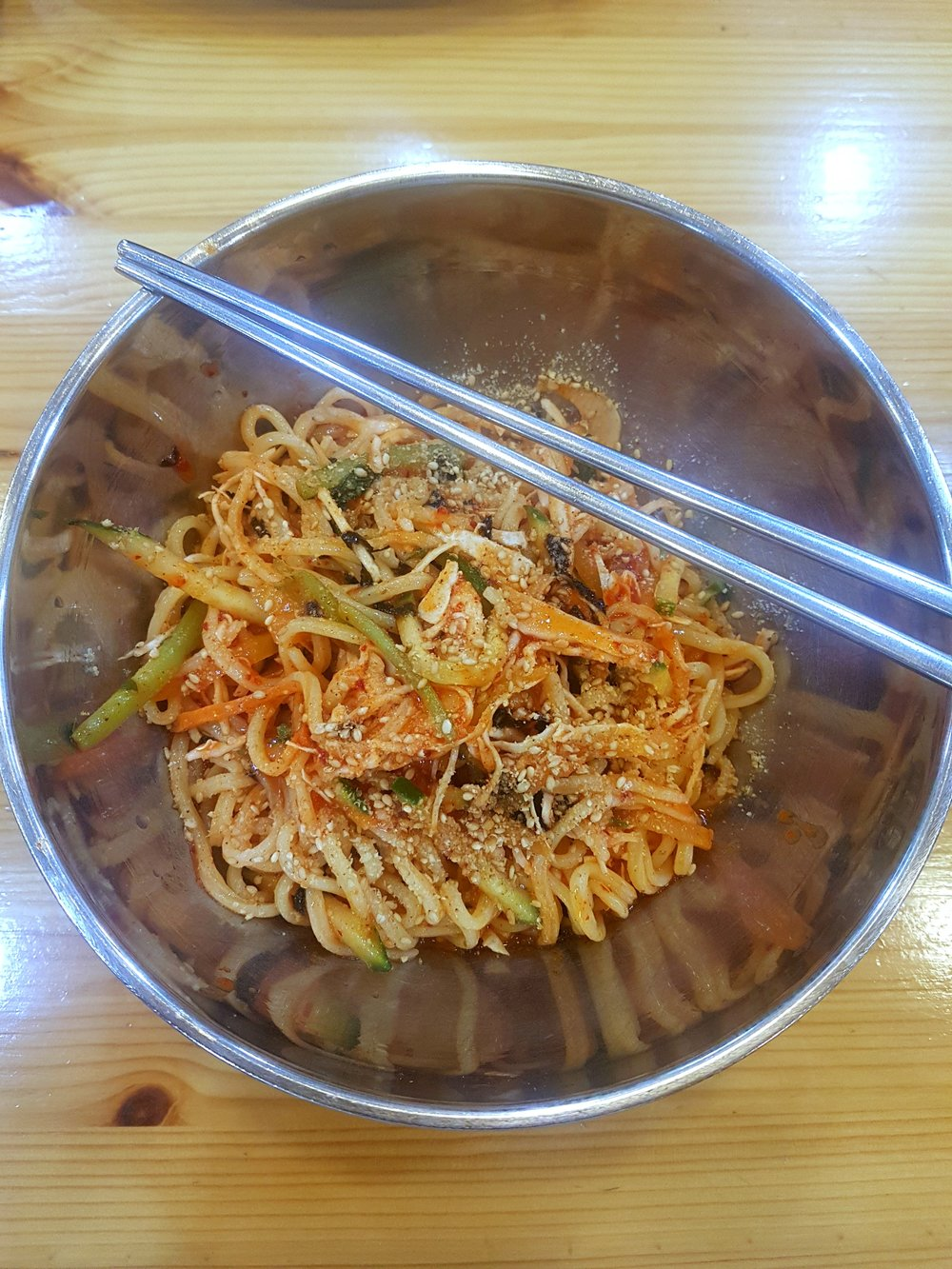 Spicy noodles. I will be spoiled. :D