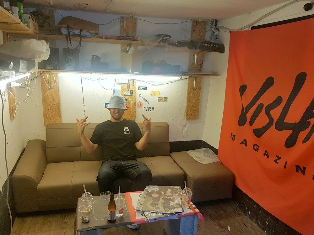 """Jangmin """"Jangster"""" Choi at Visla HQ."""