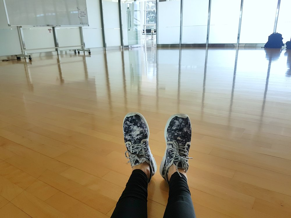 Ready for my first ever dance class held in Korean!