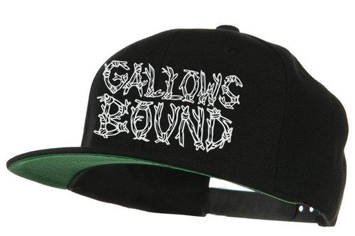 Logo Flat Bill Snapback Hat — Gallows Bound 8e56cf8a42b