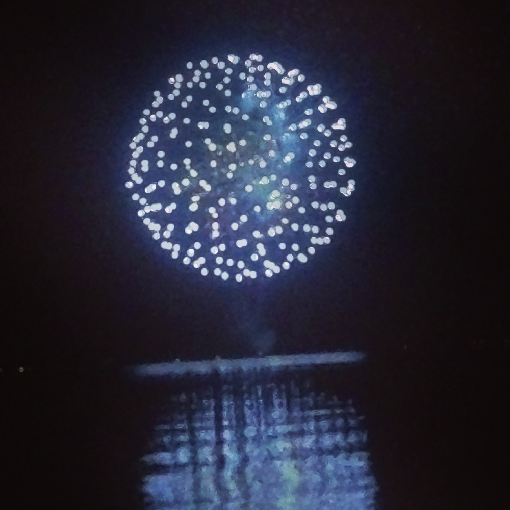 fireworks from the water