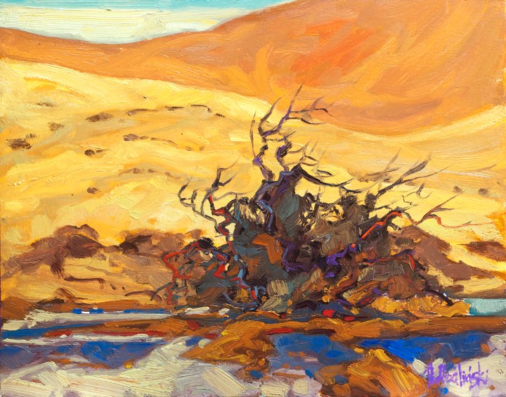 "Golden Dunes 11"" x 14"" oil on board"