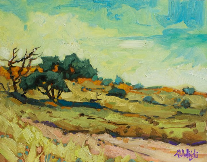"Grazing Grounds 11"" x 14"" oil on board"