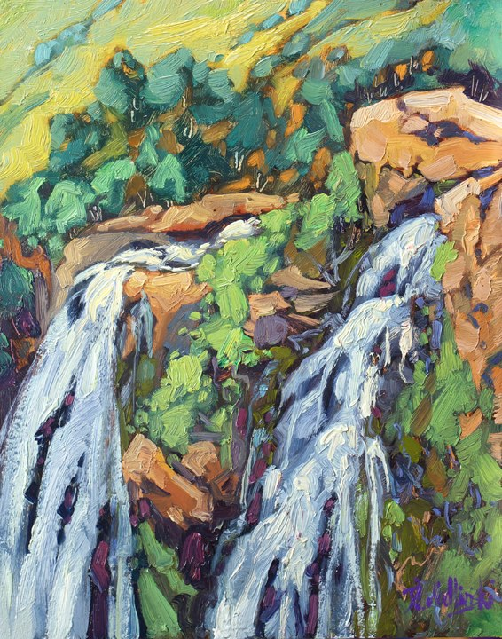 "Lisbon Falls 14"" x 11"" oil on board"