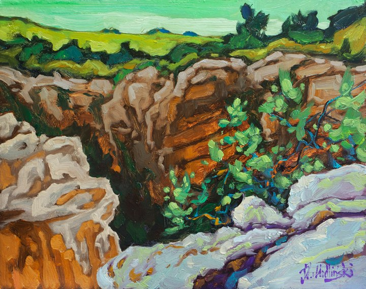 "Oribi Gorge 11"" x 14"" oil on board"