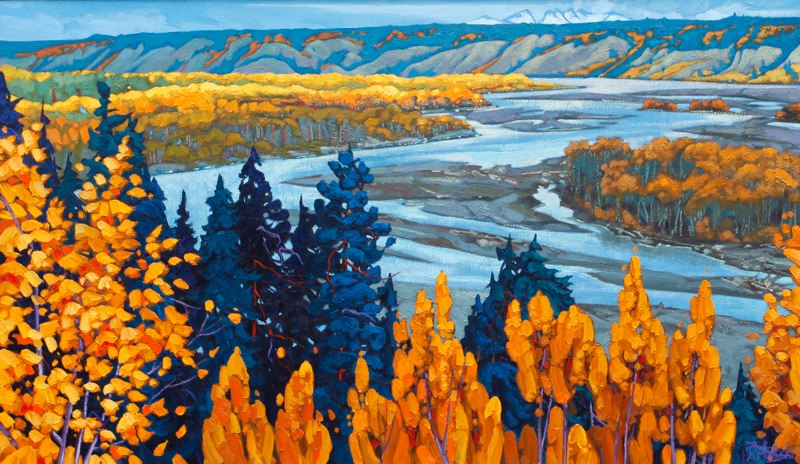"Copper River Valley 35"" x 60"" oil on canvas SOLD"