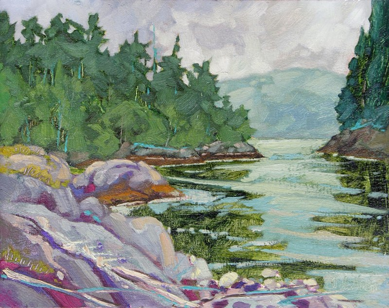 "Elvin Cove 11"" x 14"" oil on board SOLD"