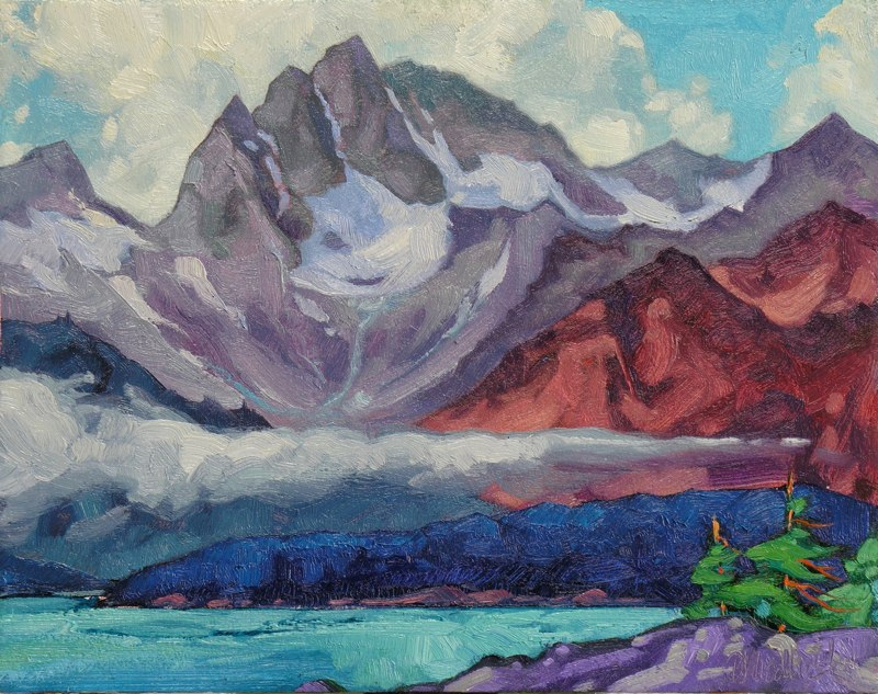"South of Haines 11"" x 14"" oil on board"