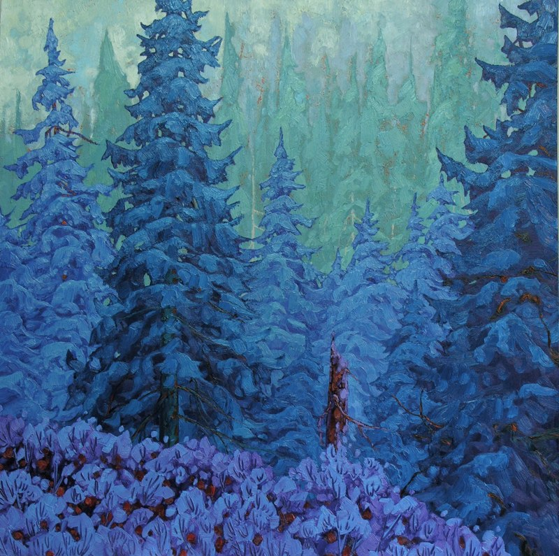 "Woodland Magic 36"" x 36"" oil on board SOLD"