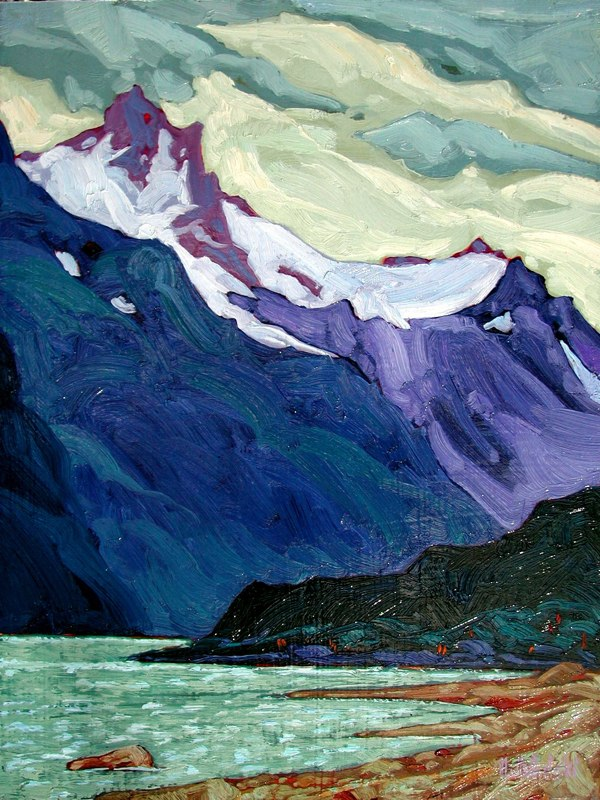 "SE Alaska 2  16"" x 12"" oil on board SOLD"