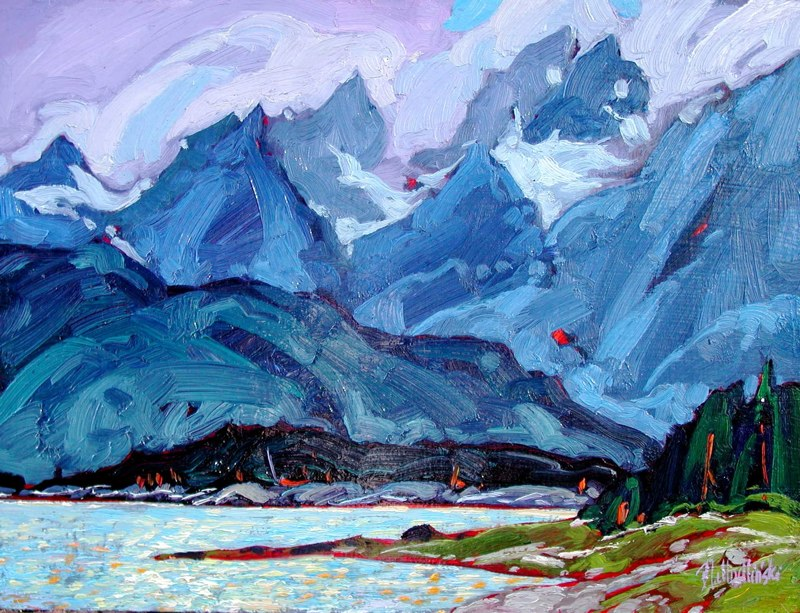 "Lynn Canal 12"" x 16"" oil on board SOLD"