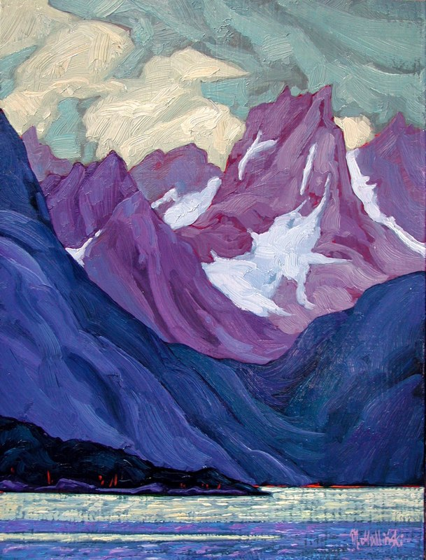 "SE Alaska 1 16"" x 12"" oil on board SOLD"