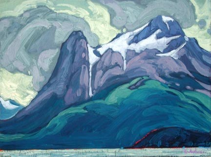 "From Ocean to Icefields 12"" x 16"" oil on board SOLD"