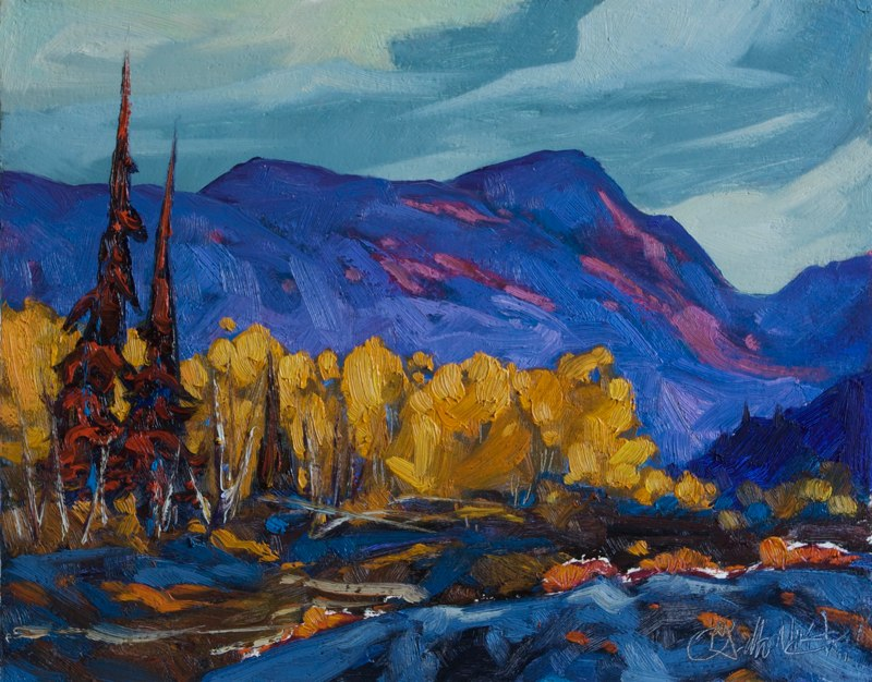 "Lakina River Flats 11"" x 14"" oil on board"